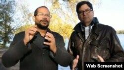 Los creadores de lacubanada.com Alexis Ferrer y Clive Rudd.