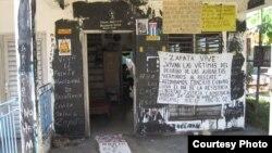 Casa de Sara Marta Fonseca luego de acciones de las turbas en 2012