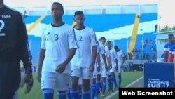 El equipo cubano de fútbol sub 17 años.