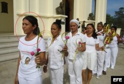 Miraida Martín fue miembro de las Damas de Blanco.
