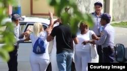 Damas de Blanco arrestadas el 17 de noviembre 2019.