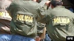 Foto de archivo de policías colombianos.