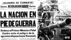 Portada relacionada con el conflicto vivido entre el 15 y el 28 de octubre de 1962. Momento de la historia sobre los 13 días que tuvieron al mundo al borde de un desastre nuclear. Cuando el 16 de octubre de 1962, el entonces presidente de EEUU, John F. Ke