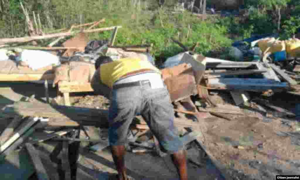 Demolición viviendas en Santiago de Cuba Foto Cortesía de Marcos Díaz y Ermis Carbonel