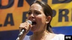 La diputada opositora María Corina Machado.