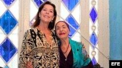 La princesa Carolina de Mónaco y Alicia Alonso. EFE