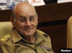 El ministro del Interior, general de Cuerpo de Ejército, Abelardo Colomé Ibarra.