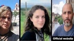 Iris Mariño, Neife Rigau y Henry Constantín, presos e incomunicados desde el 11 de julio. (Foto: SIP)