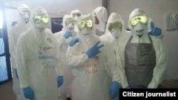 Médicos cubanos en Liberia listos para trabajar (R. Hdez.).