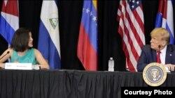 Rosa María Payá habla ante Trump.