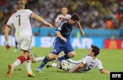 Messi con el balón