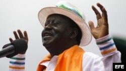 Raila Odinga, en campaña electoral
