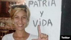Thais Mailén Franco, una de las manifestantes de Obispo. (Cubalex/Twitter)