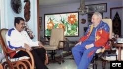 Fidel Castro y Nicolás Maduro se reúnen en la Habana.