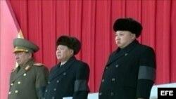 Fotografía cedida por la Agencia Central de Noticias de Corea del Norte (KCNA) el 18 de noviembre de 2014.