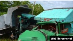 Accidente de tránsito ocurrido en la provincia Granma