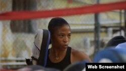 """Namibia"", boxeadora cubana."