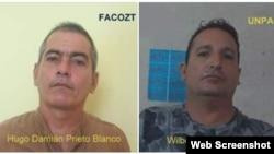 Hugo Damián Prieto y Wilberto Parada (i-d).