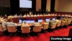 Reunión del Consejo de Ministros de Cuba.