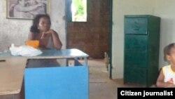 Reporta Cuba lugar donde vivía mujer desalojada. Foto: Evelín Pineda.