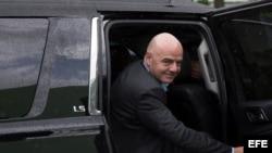 El presidente de la Federación Internacional de Fútbol (FIFA), Gianni Infantino.