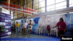 En el pabellón estadounidense de la Feria Comercial de La Habana 2018 hay solo ocho kioscos de exhibición, comparados con decenas en 2015-16.