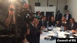 Encuentro de Obama con disidentes cubanos. Fotos: Yoani Sánchez.