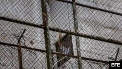 Leopoldo López en la Prisión Militar de Ramo Verde.