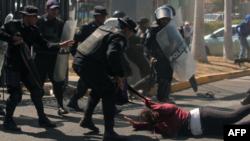 Imagen de la violenta represión que durante meses sufre el pueblo de Nicaragüa