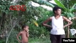 Reporta Cuba. Familia campesina, en Baracoa.