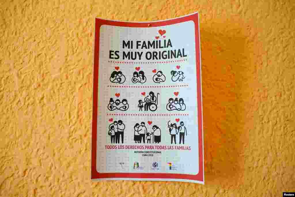 Un cartel a favor del matrimonio gay.