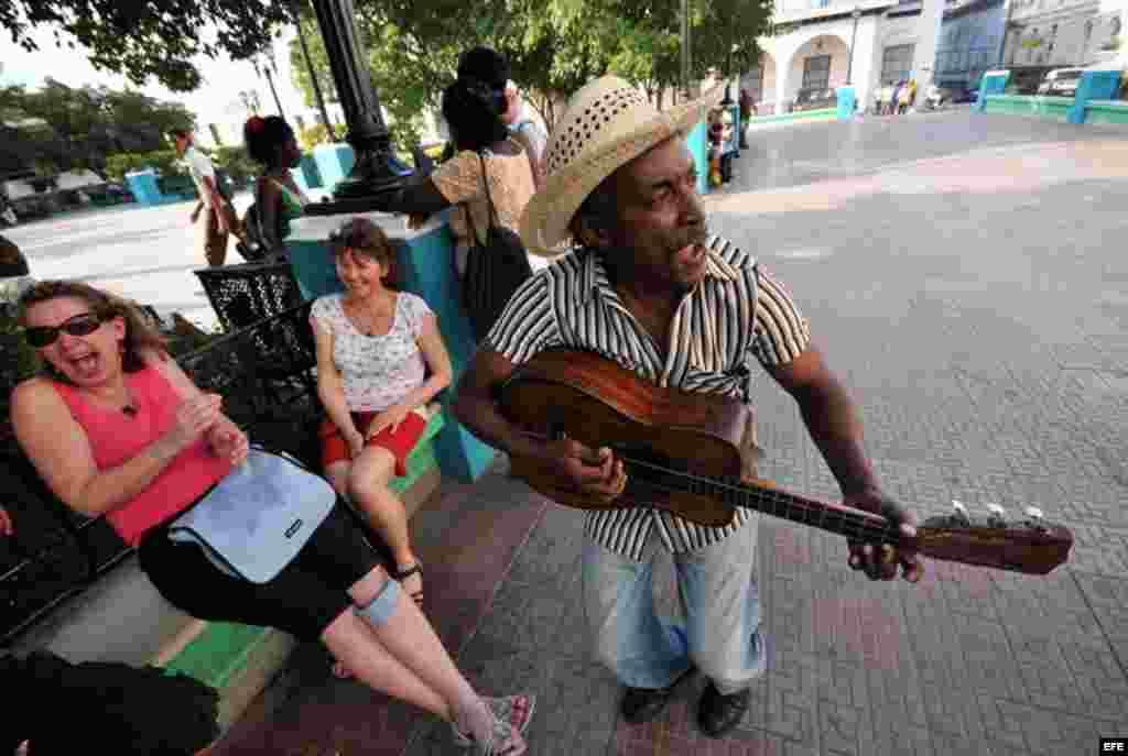 Parque Céspedes en Santiago de Cuba.