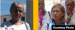 Arrestos arbitrarios a Damas de Blanco Lourdes Esquivel y María C Labrada