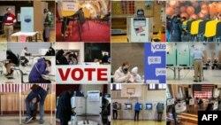 Fotografías de las elecciones 2020 en Estados Unidos. (AFP).