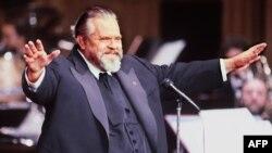 El director de cine Orson Welles.