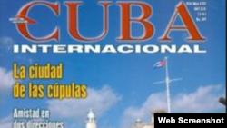 Portada de una Revista Cuba Internacional