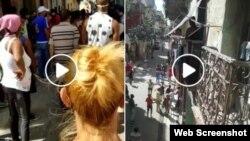 Videos que muestran la agresión del policía a la mujer. (Captura/Facebook)