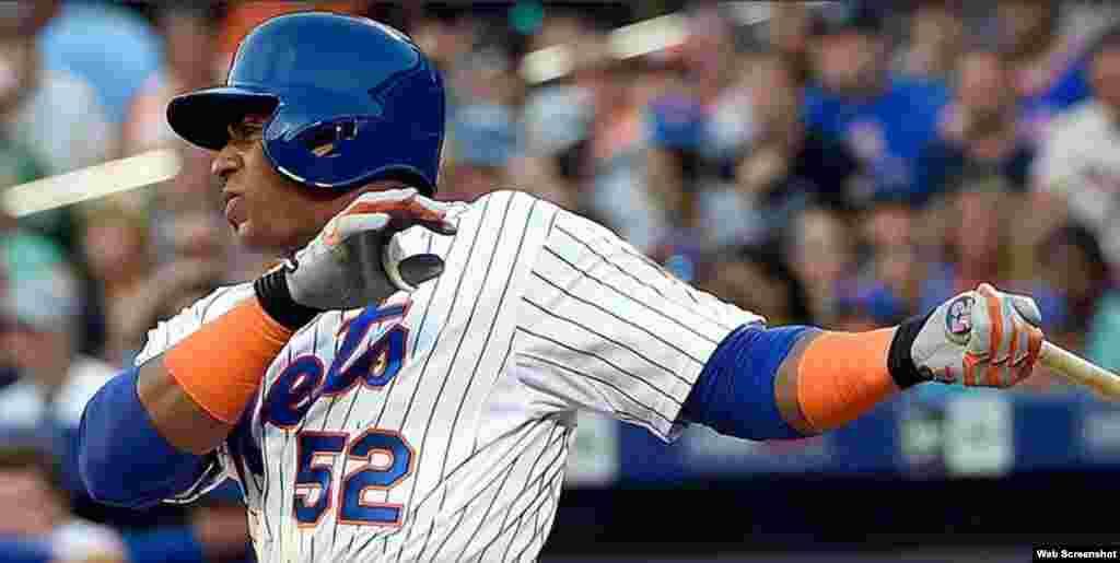 Yoenis Céspedes, el jardinero derecho de los Mets de Nueva York bateó .291 en la temporada regular. Conectó 184 imparables en 633 turnos, con 105 carreras impulsadas, 101 anotadas y 35 cuadrangulares.