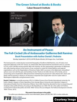 """""""Un instrumento de paz..."""", un libro del escritor cubanoamericano Daniel Pedreira. (Cortesía)."""