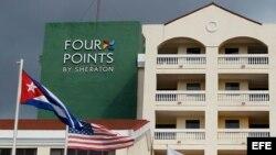 """Fotografía del exterior del hotel """"Four Points by Sheraton"""" en La Habana."""