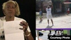 Micaela Roll Gibert, dama de blanco acusada de atentado y sancionada a 2 años y 8 meses de cárcel.