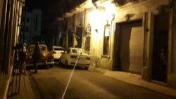 Acceso bloqueado en la madrugada del martes a la sede del Movimiento San Isidro. (Facebook/MSI)