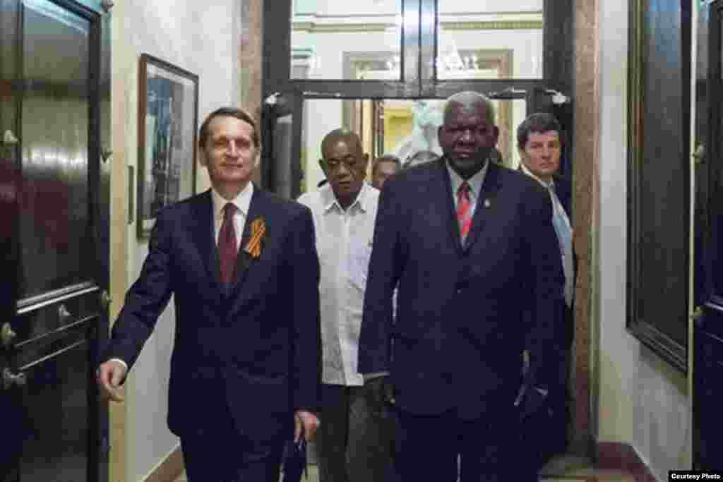 Visita del presidente de la Duma a La Habana.