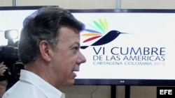 Juan Manuel Santos inspecciona instalaciones de la Cumbre