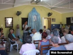 Casa utilizada para actividades litúrgicas en Cuba.