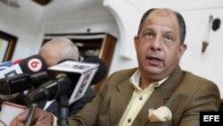 El historiador y candidato del centro izquierdista Partido Acción Ciudadana, Luis Guillermo Solís