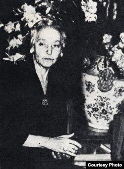 María Mantilla, 1953.