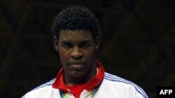 El boxeador cubano Robert Alfonso