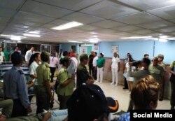 Otra imagen en el hospital Celia Sánchez compartida por Geraldo Romero Díaz, que se identifica en su cuenta de Facebook como director de CNC TV Granma.