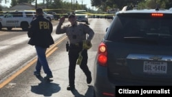 Escena del tiroteo en Texas. (Foto Twitter @MaxMasseyTV)